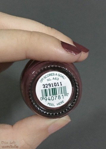 OPI Miss Left 06