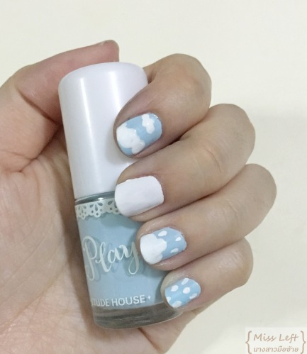 Rain theme nail Miss Left