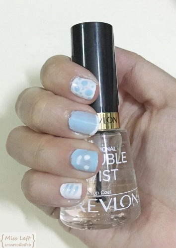Rain theme nail Miss Left