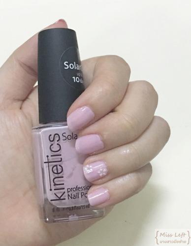 Pink Flower Nail Miss Left นางสาวมือซ้าย