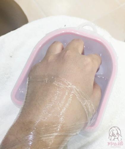 Nails by lamuna รีวิว มือซ้าย สปามือ ถอดเล็บเจล
